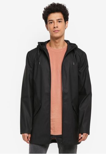 Only & Sons black Kristoff Raincoat C8346AAD227690GS_1