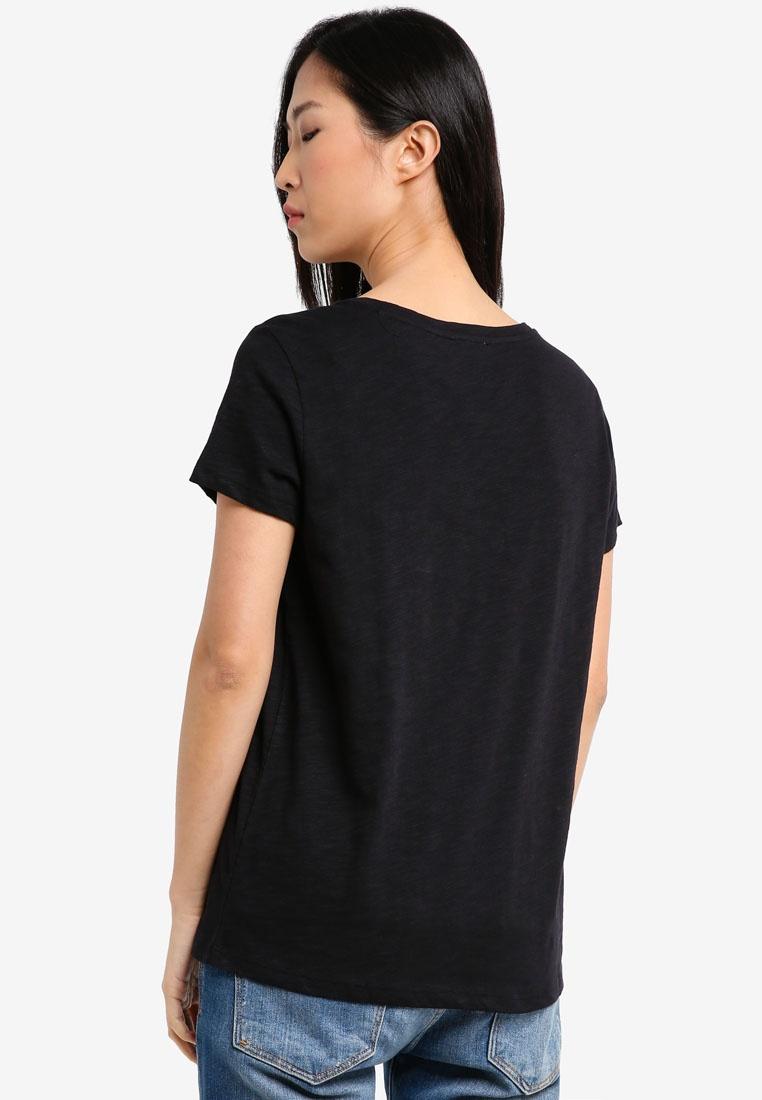 Tee Klein Jeans Neck Crew Black Sleeve Calvin Klein Short Calvin PB8wZX