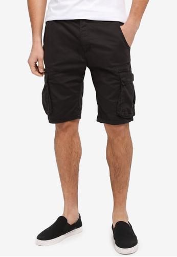 Factorie black Capt Utility Shorts 7FD8FAAF79A9FDGS_1