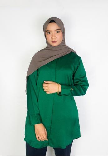 Zaryluq green Tunic Top in Mystique 31930AADD5C3BBGS_1