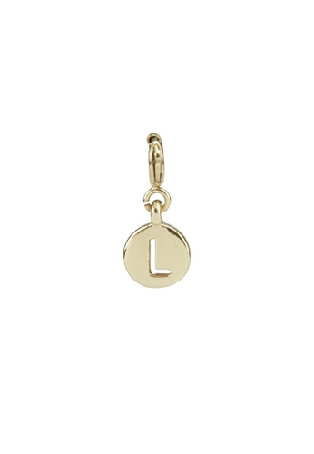 My Flash Trash gold Gold letter charm l 348D2AC1CFBEDBGS_1