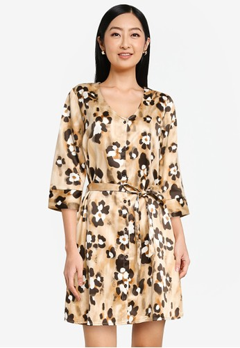 JACQUELINE DE YONG multi Alisa 3/4 Sleeves Shirt Dress 4FD5CAAE10CC6AGS_1