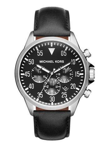MICHAEL KORS black Gage Chronograph Watch MI248AC0K94TPH_1
