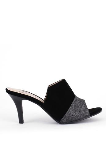 7soles black Veronica L Slide Heels 3AB29SHFE30DD7GS_1
