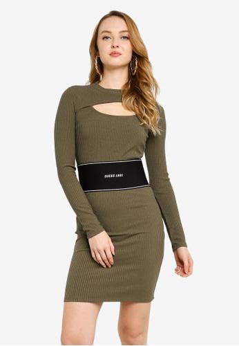 GUESS 綠色 Atifa Short Sleeve Dress 48172AA9686467GS_1