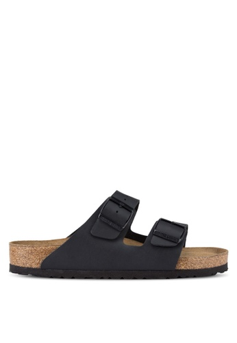 Birkenstock black Arizona Birko-Flor Soft Footbed Sandals BI090SH90JPPMY_1