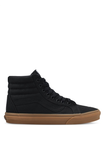VANS black and brown SK8-Hi Reissue Canvas Gum Sneakers VA142SH0SHNDMY_1