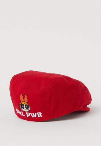 H&M red Flat Cap 980F5ACB6EE4C2GS_1
