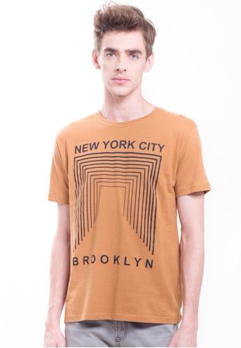 Drum brown NYC Graphic Tee- Khakis 197BDAAC30D4C0GS_1