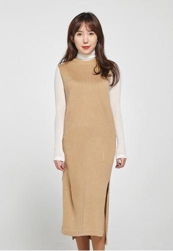 韓流時尚 側開長款針織服裝 esprit台灣網頁F4047, 服飾, 上衣