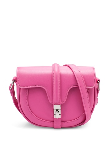 nose pink Saddle Crossbody Bag C016AACEC9816DGS_1