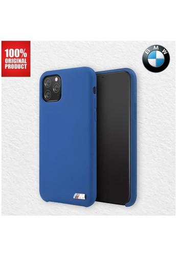 "BMW blue BMW - M Signature Silicone Microfibre - Case iPhone 11 Pro 5.8"" - Navy 81616ES357B0F6GS_1"