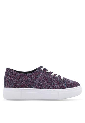 Something Borrowed multi Metallic Mesh Lace Up Sneakers 3A4DDSHA95B7A6GS_1