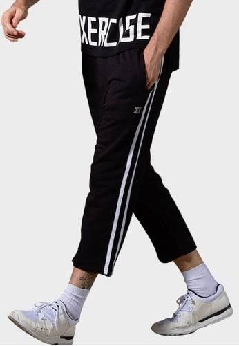 Life8 black Sport Breathable Ankle-Length Pants Trouser-14015-Black LI283AA39DOESG_1