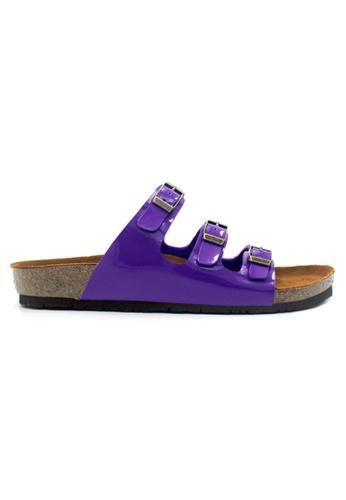 SoleSimple purple Ely - Glossy Purple Sandals & Flip Flops 6BB5CSH72A1483GS_1