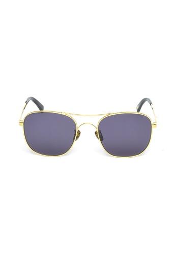 OBX gold OBX Square Aviator-style Sunglasses E709FGL615F873GS_1