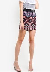Miss Selfridge black and multi Premium Embroidered A-Line Mini Skirt MI665AA08CFNMY_1