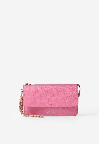 BERACAMY pink BERACAMY Chain Zip Pouch - Embossed Pink AA9ACACB601C3AGS_1