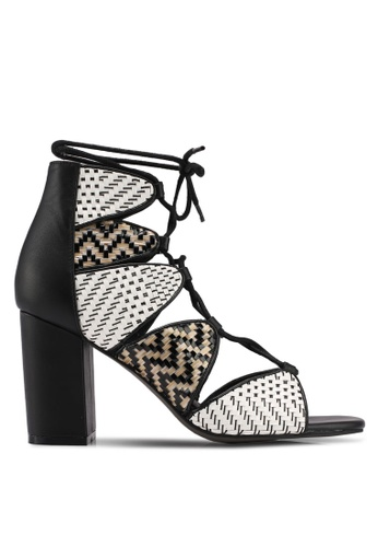 E8 by Miista black and white Anabella Weave Heels E8283SH0STHOMY_1