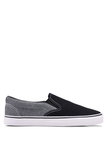North Star black Round Toe Slip Ons 0256CSH2F4ABCFGS_1