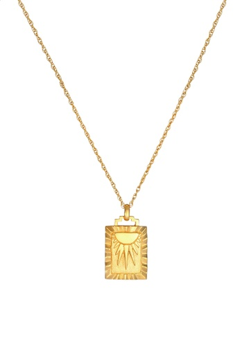 ELLI GERMANY gold Sunbeams Vintage Gold Plated Necklace 7D990AC4A2C7C1GS_1