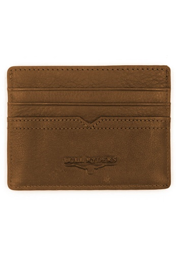 midzone brown BULL RYDERS Genuine Leather Card Holder 47327AC28DD5E8GS_1