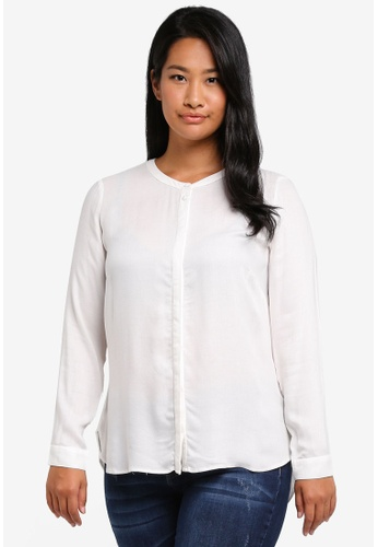 JUNAROSE Long Sleeved Shirt Women White Discounts Cheap Price iwYojh