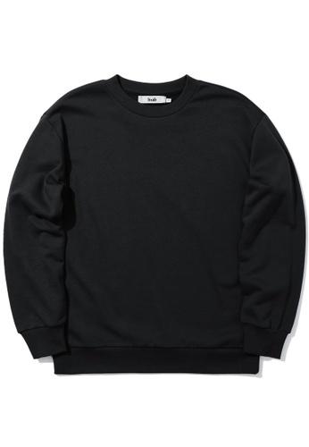 b+ab black Graphic tape sweatshirt 929A6AA428E0CDGS_1