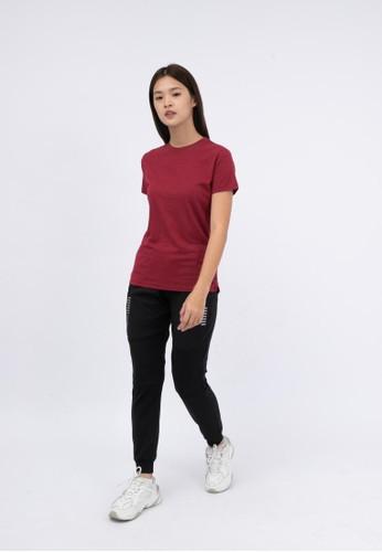 Trijee red Trijee Women Short Sleeve Tee Callum - Maroon 03563AAE394330GS_1