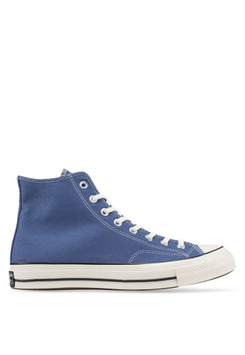 Converse blue Chuck Taylor All Star 70 Vintage Canvas Hi Sneakers 306DFSHF829C9EGS_1