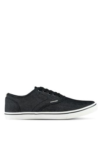 Jack & Jones grey Heath Denim Anthracite Sneakers 99A12SHE3DAAEDGS_1