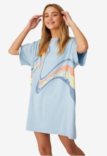 Cotton On Body blue Organic Cotton 90S T-Shirt Nightie DD952AA824C269GS_1