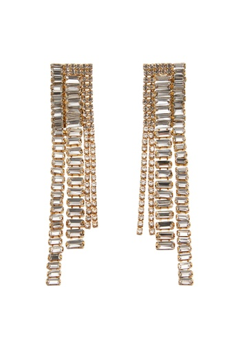 Mango gold Crystal Pendant Earrings 18970AC4DB2C46GS_1
