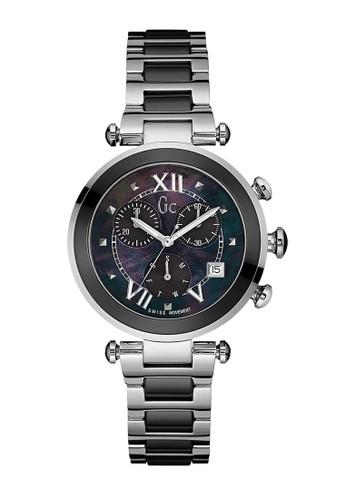GC Watch silver GC Guess Collection Jam Tangan Wanita - Silver Black -  Stainless Steel - cc8766781f