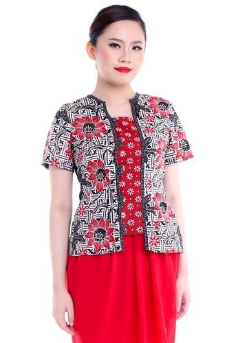 DhieVine Batik black and red and multi Anglaina Kembang Sepatu Kebaya Kutubaru B5953AA732EAC6GS_1