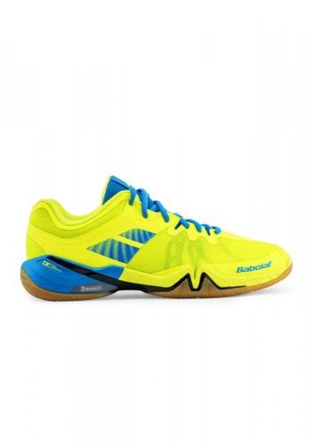 Babolat yellow and blue Shadow Tour Badminton Shoes BA220SH0JOGMPH_1