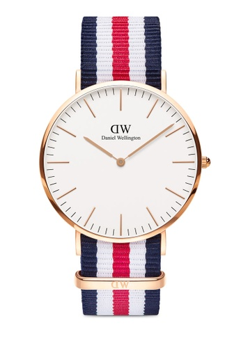 Daniel Wellington gold Classic Canterbury 40mm Rose Gold Watch C665EACD278677GS_1