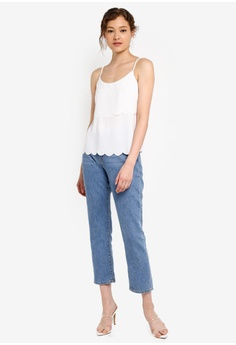 695f73a5556110 Miss Selfridge Ivory Scallop Layer Camisole Top RM 89.00. Sizes 6 8 10 12 14
