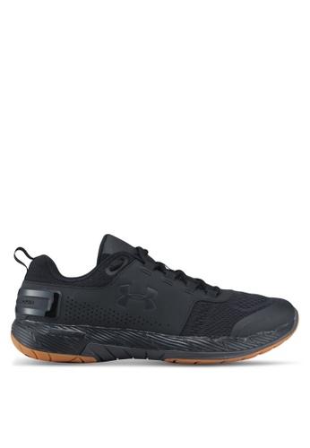 Under Armour black UA Commit Tr Ex Shoes 9BB39SH26E84DCGS_1