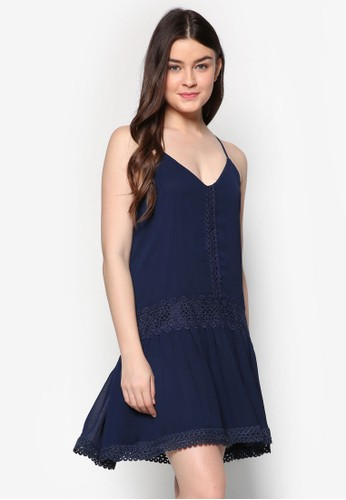 蕾絲細肩帶A 字洋裝, 服飾, zalora 心得 ptt短洋裝