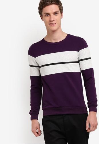 Murzaman purple Y & M Sweatshirt MU501AA19NIQMY_1