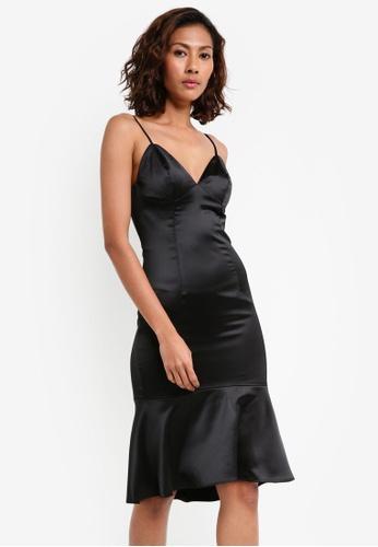 Bardot black Henley Flounce Dress BA332AA0STARMY_1