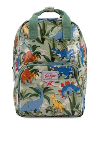 Cath Kidston green Dinosaur Jungle Kids Medium Backpack B4BBFKC03CE123GS_1
