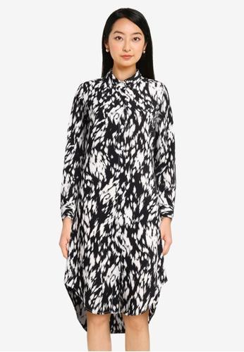 ZALORA BASICS multi Curved Hem Shirt Dress 3CF65AA198216DGS_1