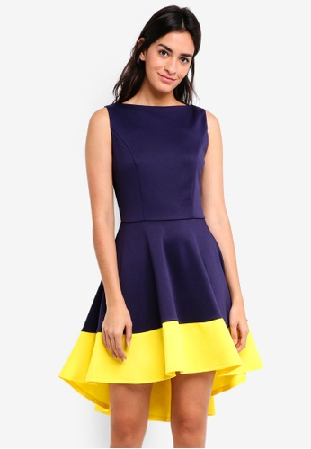 ZALORA multi High Low Hem Dress D3AA2AAE20984EGS_1