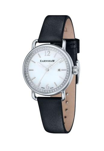 Thomas Earnshaw black Thomas Earnshaw INVESTIGATOR ES-0022-05 Women's Black Satin Strap Watch 8637BACF54EF2DGS_1