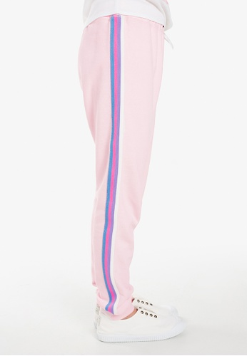 Gen Woo pink Casual Jogger with striped side tape B125BKA4DC16DFGS_1