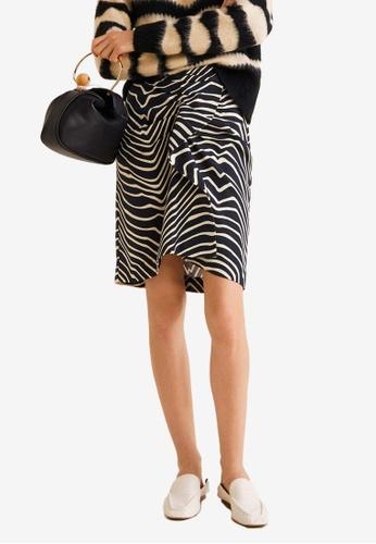 Mango black Printed Cotton Skirt 9BAB1AAC619CBBGS_1