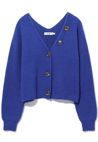 b+ab blue Cropped cardigan 42C9BAAA5E2C12GS_1