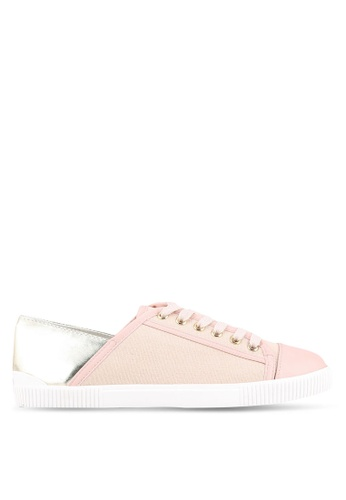 Velvet pink Classic Contrast Trainers EDBE5SHB67DFCAGS_1